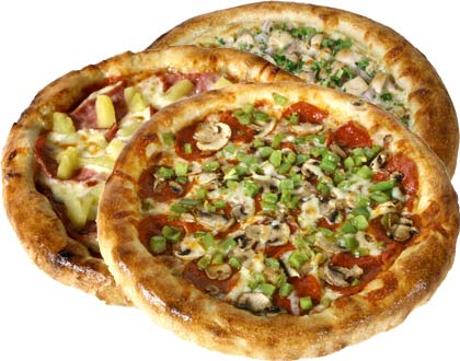Special - 3 Large 2 Topping Pizzas $39.99